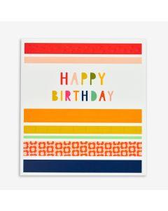 Birthday Card - Stripes & patterns