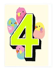 AGE 4 - Four birds