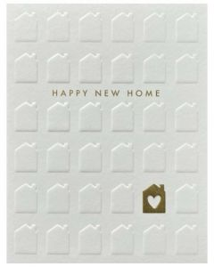 New Home - White houses, gold heart house