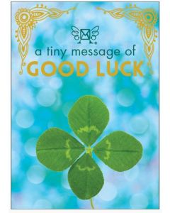 A tiny message of GOOD LUCK - 3D in a box