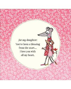 DAUGHTER Card - 'A blessing from the start...'