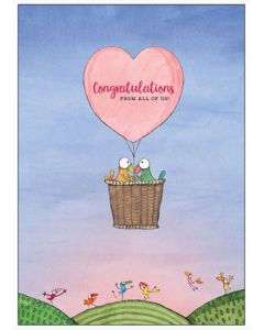BIG card - LOVE Congratulations from all of us