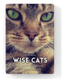 A little box of WISE CATS - 24 clever quotations for a purr-fect life