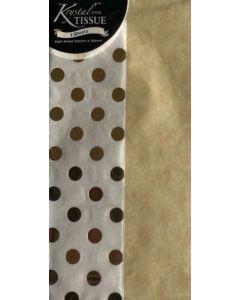 Tissue Paper - Gold Foil Spot (2 sheets)