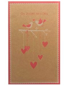 Valentine Card - Birds & Hearts