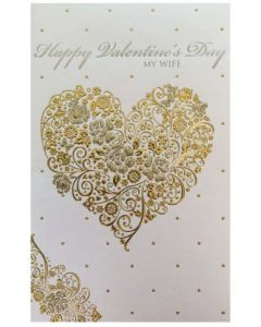 Valentine Card - My WIFE: Love You With All My Heart
