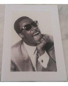 Music Legends frameable card - Stevie Wonder