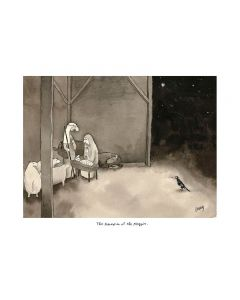 Christmas Card - Adoration of the Magpie by Michael Leunig