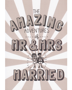 'The Amazing Adventures of Mr & Mrs Married' Card