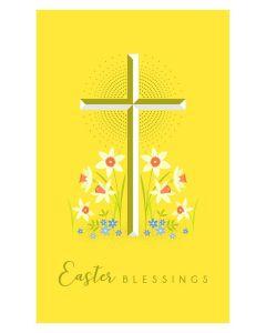 Easter Card - Blessings (Gold Cross)