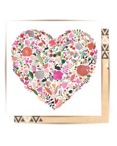 Greeting Card - Floral Heart
