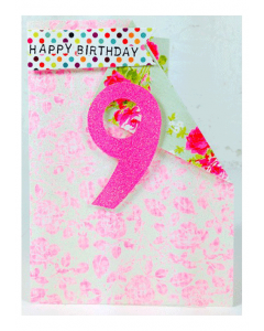 '9 Happy Birthday' Card