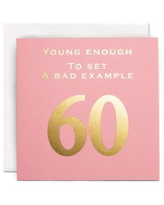 AGE 60 Card - Bad Example