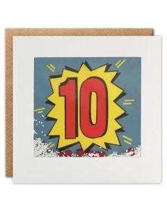 Age 10 - 'Kapow' Shakies card