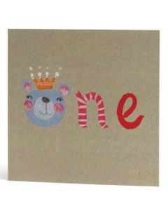 Age 1 - 'ONE' Bear with crown