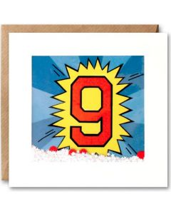 Age 9 - 'Kapow' Shakies card