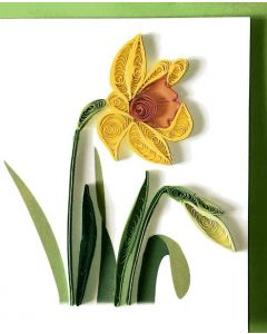 Daffodil gift card - Paper Quilling