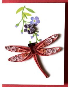 Dragonfly gift card - Paper Quilling