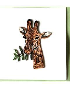 Giraffe - Paper Quilling card