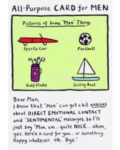 All-purpose card for MEN