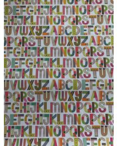 Alphabet wrapping paper
