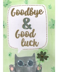 BIG Card - Goodbye & Good Luck (Cat & Clover)
