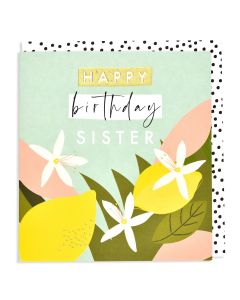 SISTER Birthday Card - Lemon Tree