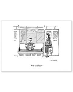 The New Yorker - Social distancing on train