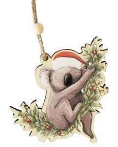 Christmas Decoration- Koala in Santa Hat