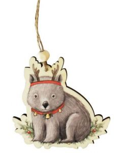 Christmas Decoration -  Wombat with Antlers
