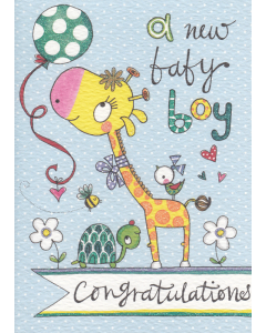 'A New Baby Boy' Card