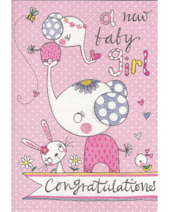 'A New Baby Girl' Card