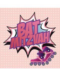 Bat Mitzvah - Pink message & rollerblades
