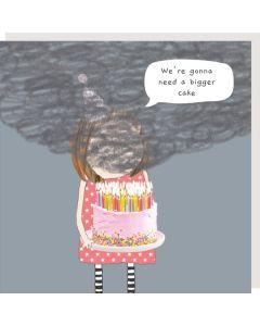 Birthday Card - Bigger Cake