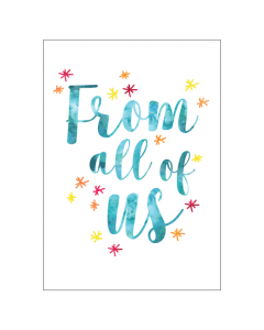'From All of Us' BIG Card