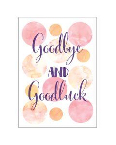 BIG Card - Goodbye (Watercolour Spots)