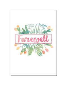 'Farewell' Floral BIG Card