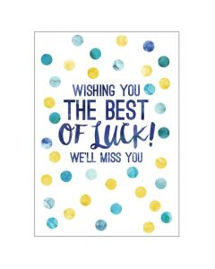 'Best of Luck' BIG Card