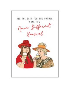 'All the best... hope it's noice, different, unusual' Kath & Kim BIG Card