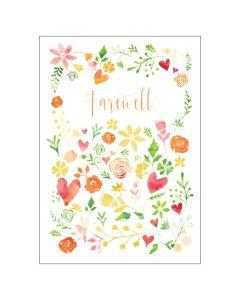 BIG Card - Floral Farewell