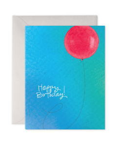 Birthday Card - Red Balloon