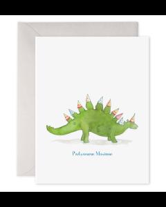 Birthday Card - Partysaurus