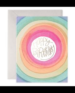 Birthday Card - Rainbow Circles