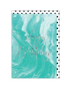 BIG Card - Happy Birthday (Marble)