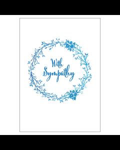 'With Sympathy' BIG Card