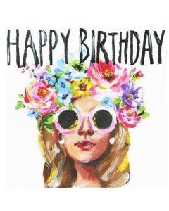 Birthday - Woman with round sunglasses