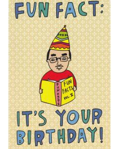'Fun Fact: It's Your Birthday!' Card
