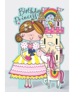 Birthday - Princess, unicorn & castle