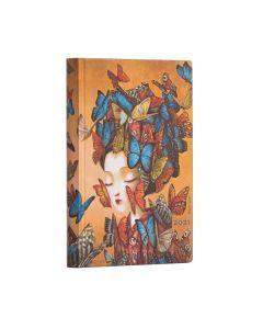 2021 Mini Flexi Diary - Madame Butterfly