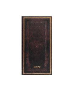 2022 DIARY - Black Moroccan SLIM Paperblanks